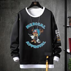Japanese Anime One Piece Tops Fake Two-Piece Chopper Sweatshirts