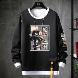 One Piece Sweatshirts Vintage Anime Black Chopper Hoodie