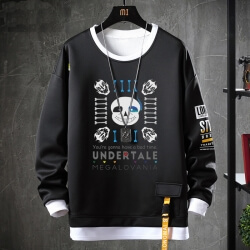 Undertale Coat Fake Two-Piece Annoying Dog Skull Sweatshirts