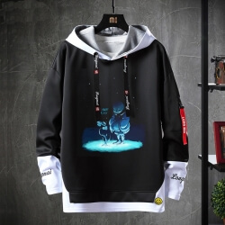Undertale Sweatshirts Black Annoying Dog Skull Tops
