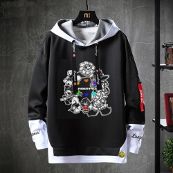 Undertale Jacket Fake Two-Piece Annoying Dog Skull Sweatshirt
