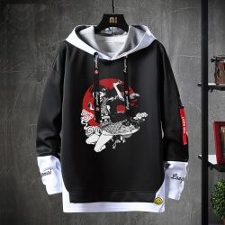 Anime Demon Slayer Jacket Fake Two-Piece Sweatshirt