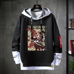 Fake Two-Piece Sweatshirt Anime Demon Slayer Sweater