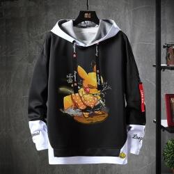 Pokemon Coat Fake Two-Piece Demon Slayer Sweatshirt