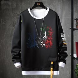 Fake Two-Piece Coat Batman Joker Sweatshirts