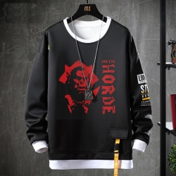 Fake Two-Piece Sweatshirts Warcraft Hoodie