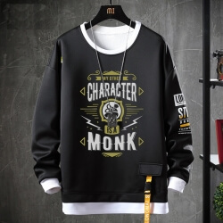 World Warcraft Sweater Fake Two-Piece Sweatshirt