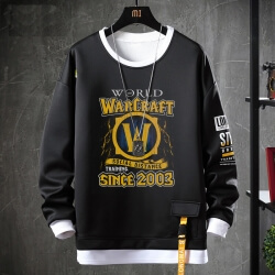 World Warcraft Sweatshirts Black Coat
