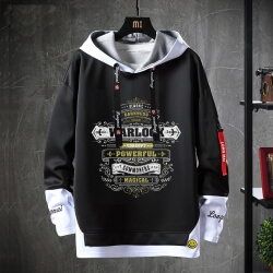 World Warcraft Jacket Fake Two-Piece Sweatshirts