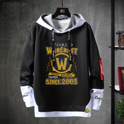 Blizzard WOW Sweater Fake Two-Piece Sweatshirts