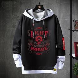 World Warcraft Jacket Fake Two-Piece Sweatshirt