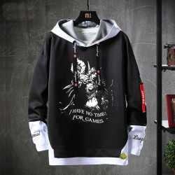 World Of Warcraft Hoodie Fake Two-Piece Sweatshirts