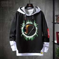 Warcraft Tops Fake Two-Piece Sweatshirts