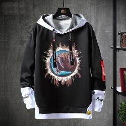 Fake Two-Piece Sweatshirt Warcraft Coat