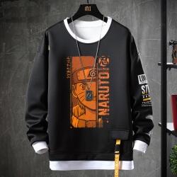 Hot Topic Anime Naruto Coat Fake Two-Piece Sweatshirts