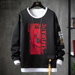 Fake Two-Piece Sweatshirts Japanese Anime Naruto Tops