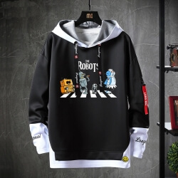 Futurama Sweatshirt American Anime Black Sweater