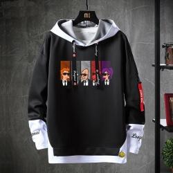 American Anime Futurama Sweater Fake Two-Piece Sweatshirt