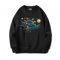 Famous Painting Sweatshirts Black Starry Sky Tops