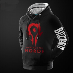 World of Warcraft Horde Logo Hoodie WOW Game Sweatshirt