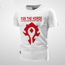 world warcraft Horde T-shirt Red Men Tee Shirt