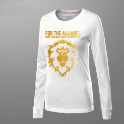 WOW Alliance Golden Lion T-shirt World of Warcraft Tee Shirt For women