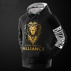 WOW Golden Alliance Logo Hoodie Warcraft Sweatshirt
