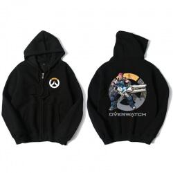 Zarya Overwatch Merch Black Zip Up Sweatshirt