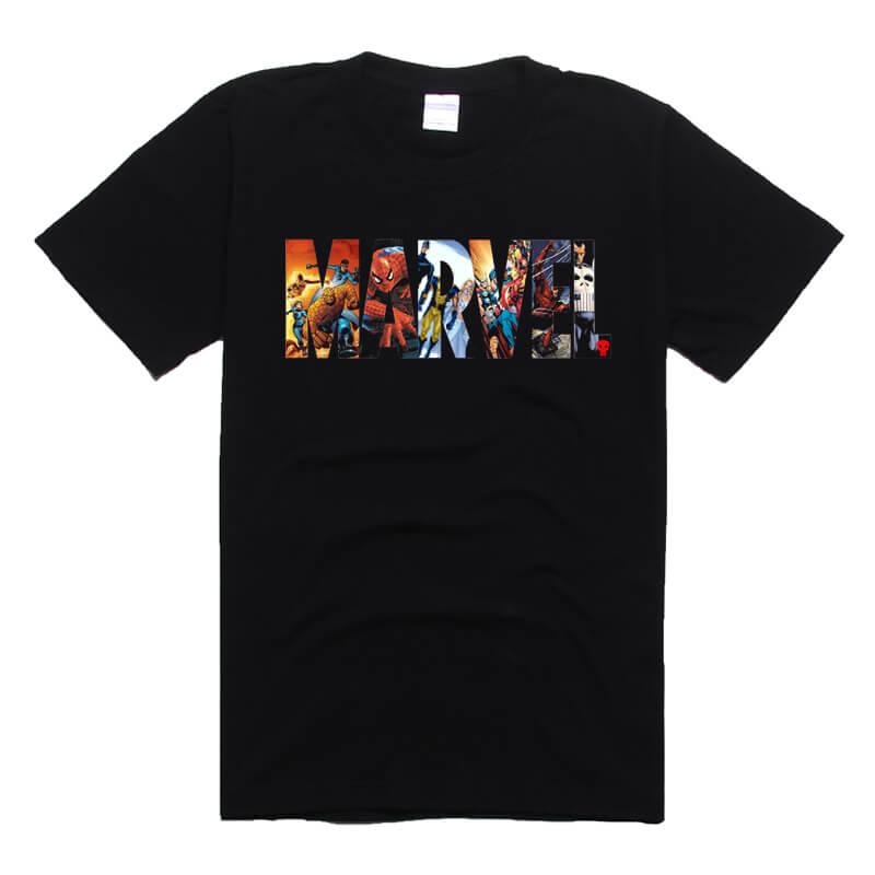 Superhero Deadpool and Spiderman T-shirt