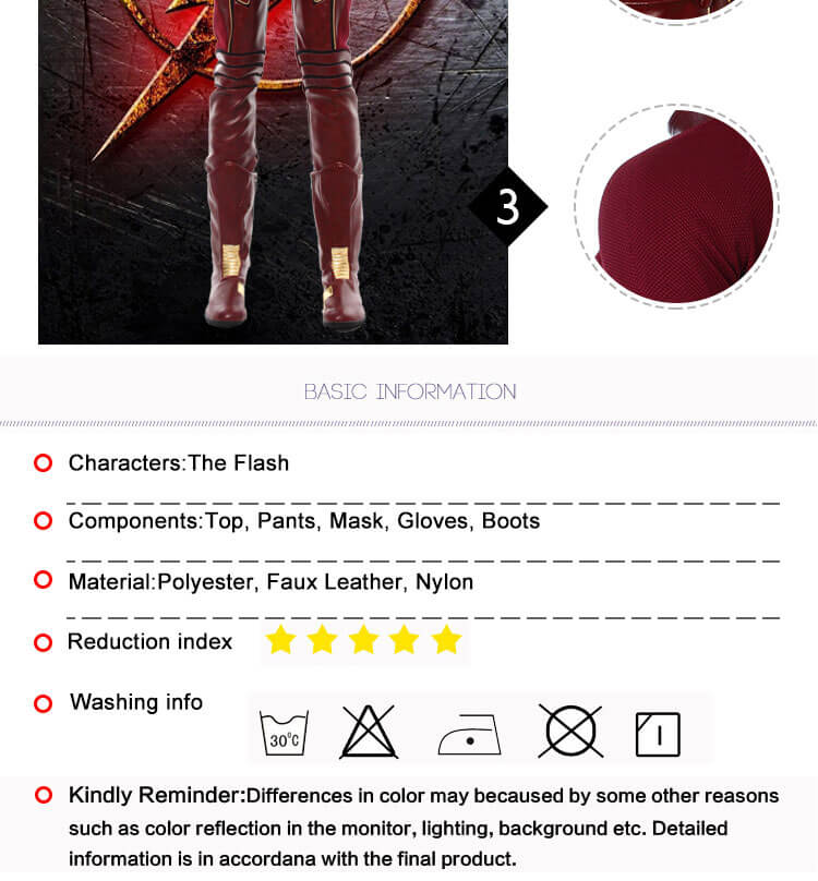 Superhero The Flash Cosplay Costume Carnival Costume