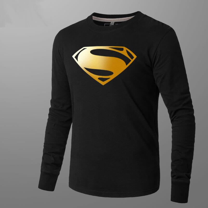 Superman Mens Long Sleeve T Shirt