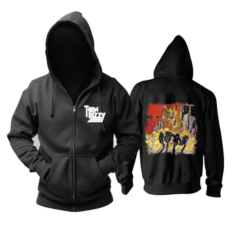 Thin Lizzy Johnny The Fox Hoody Ireland Rock Hoodie