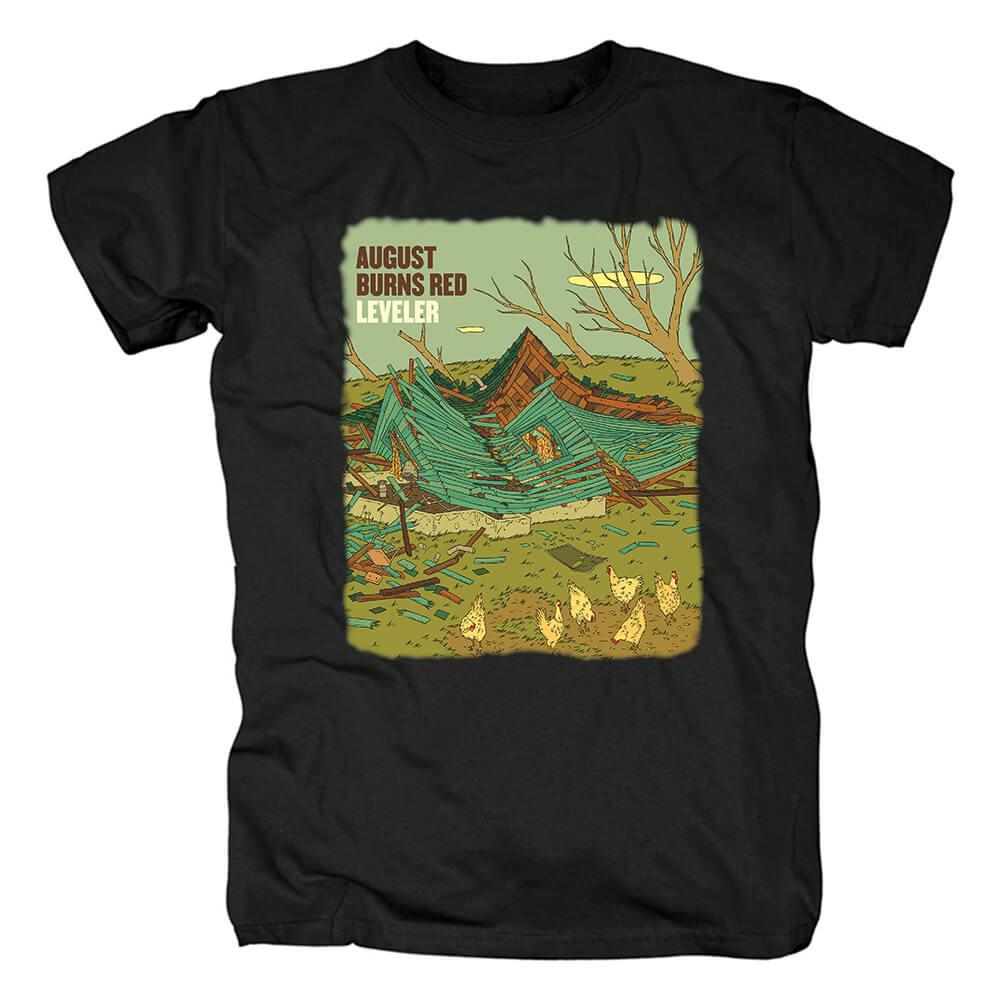 Ugust Burns Red Lancaster T-Shirt Hard Rock Metal Band Shirts