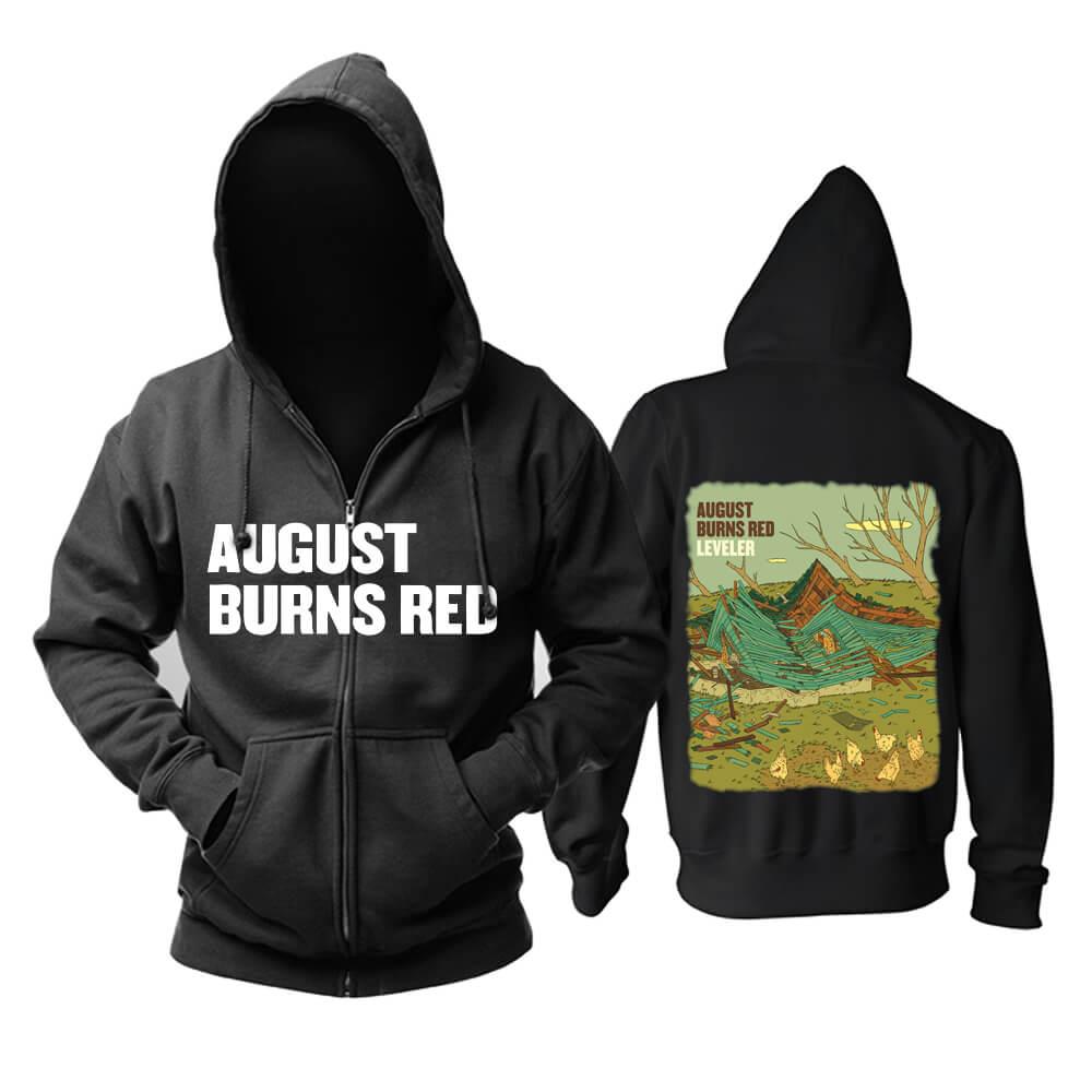 Ugust Burns Red Leveler Hoodie Metal Punk Rock Sweatshirts