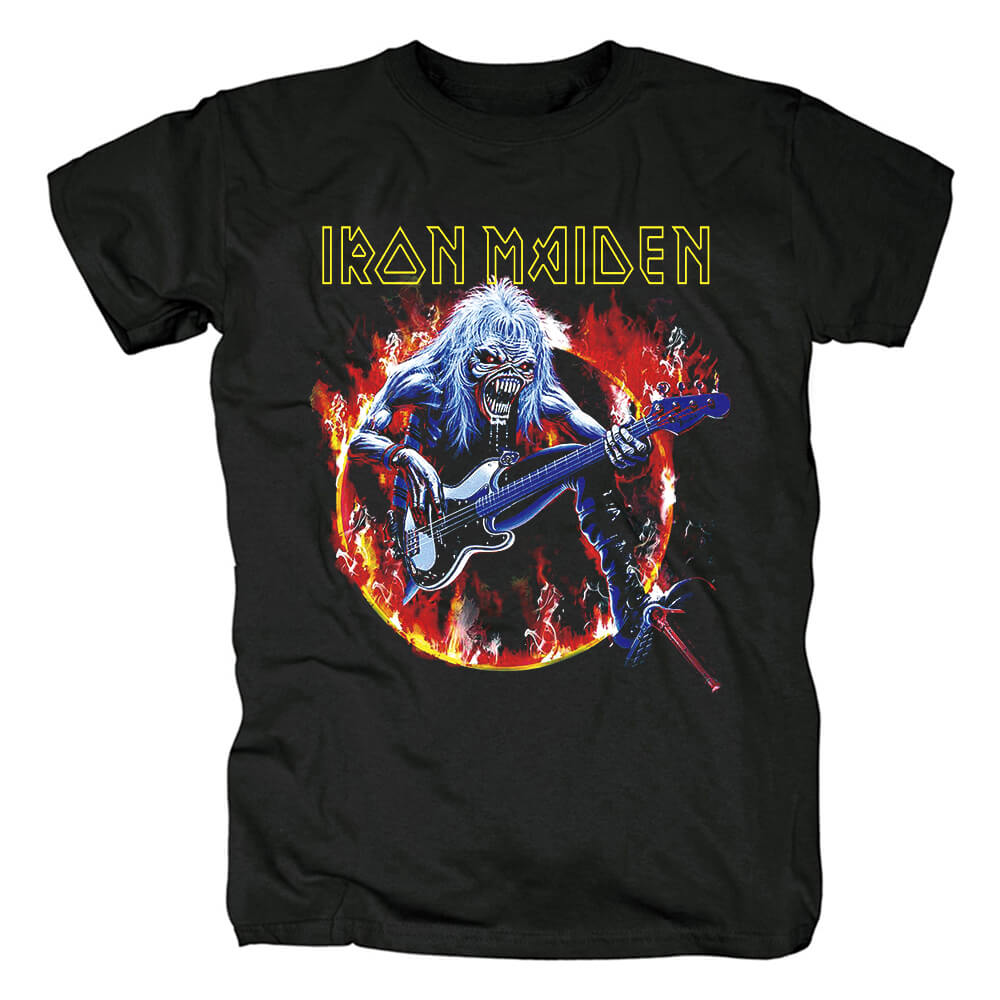 Uk Devil Rock Graphic Tees Personalised Iron Maiden T-Shirt