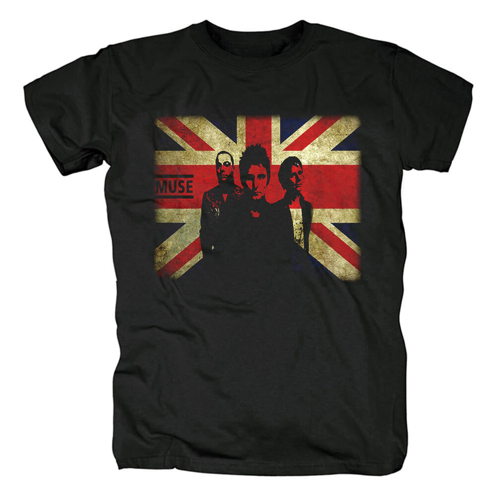 Uk Muse T-Shirt Metal Rock Band Graphic Tees