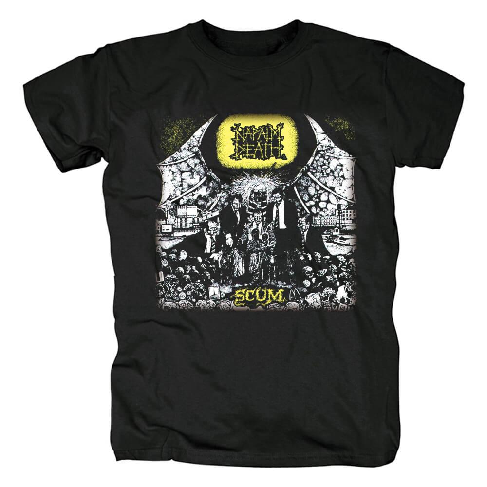 Uk Napalm Death Band T-Shirt Metal Shirts