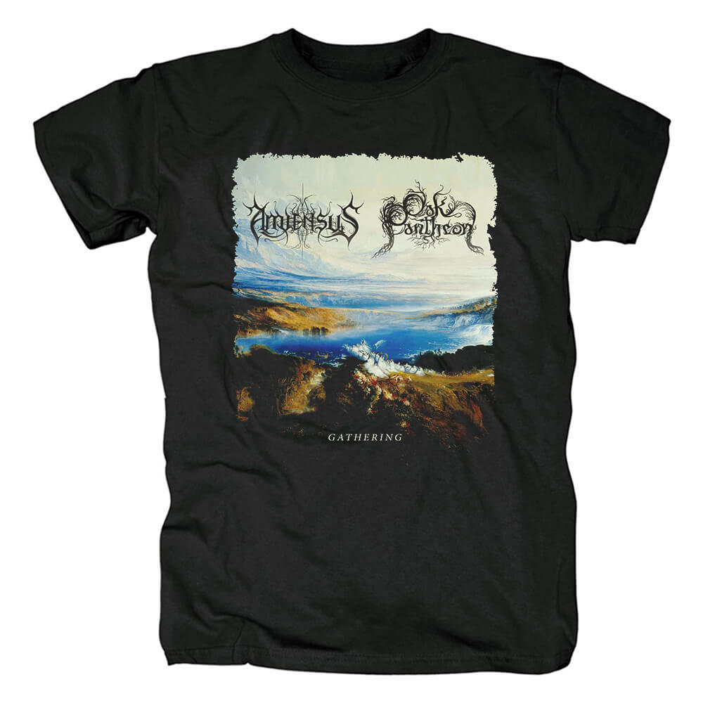 Unique Band Amiensus Gathering T-Shirt Black Metal Tshirts
