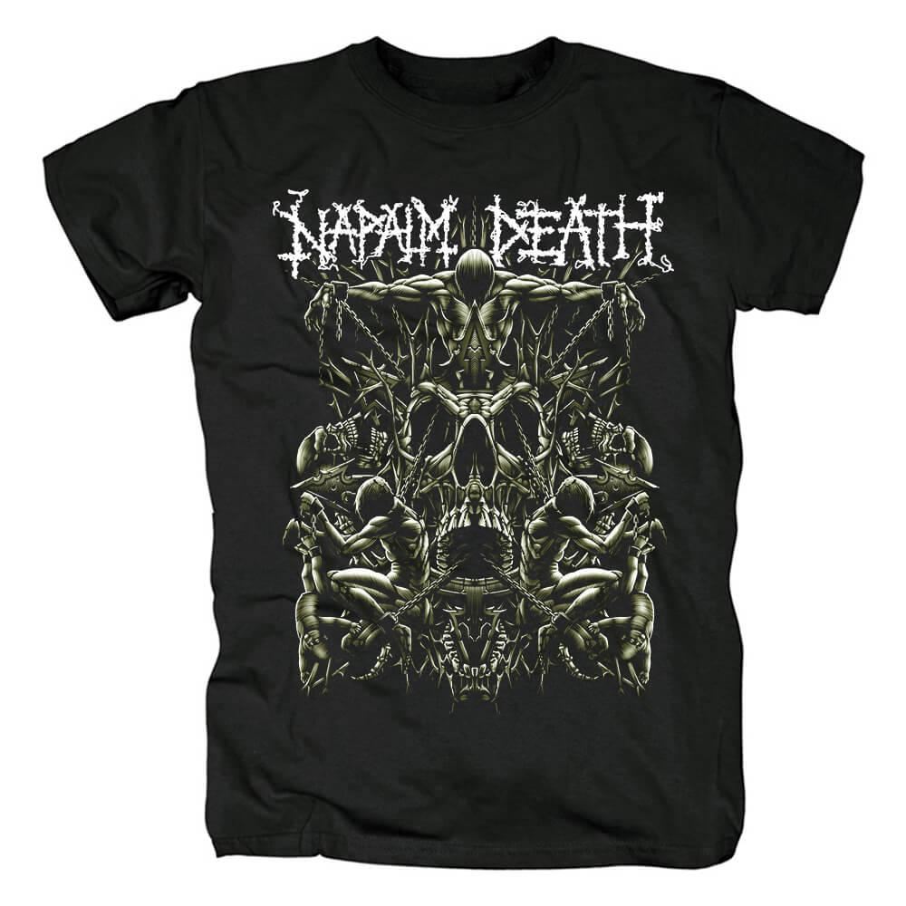 Unique Uk Napalm Death Grindcore T-Shirt Metal Band Graphic Tees