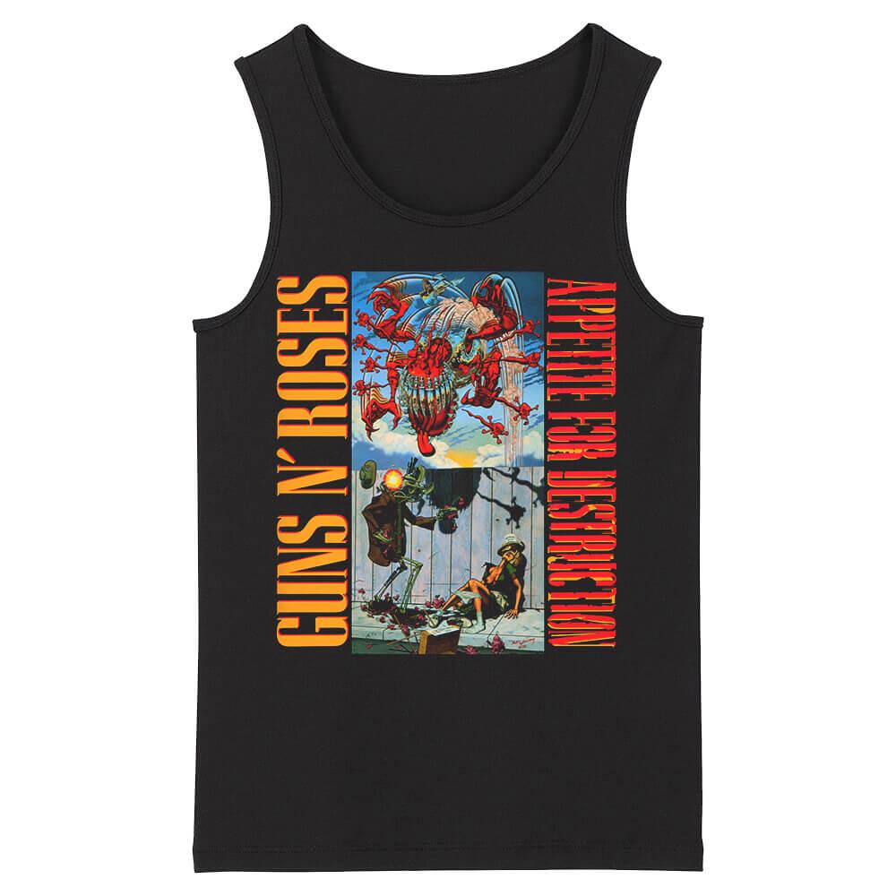 Us Hard Rock Sleeveless Tees Guns N' Roses Tank Tops