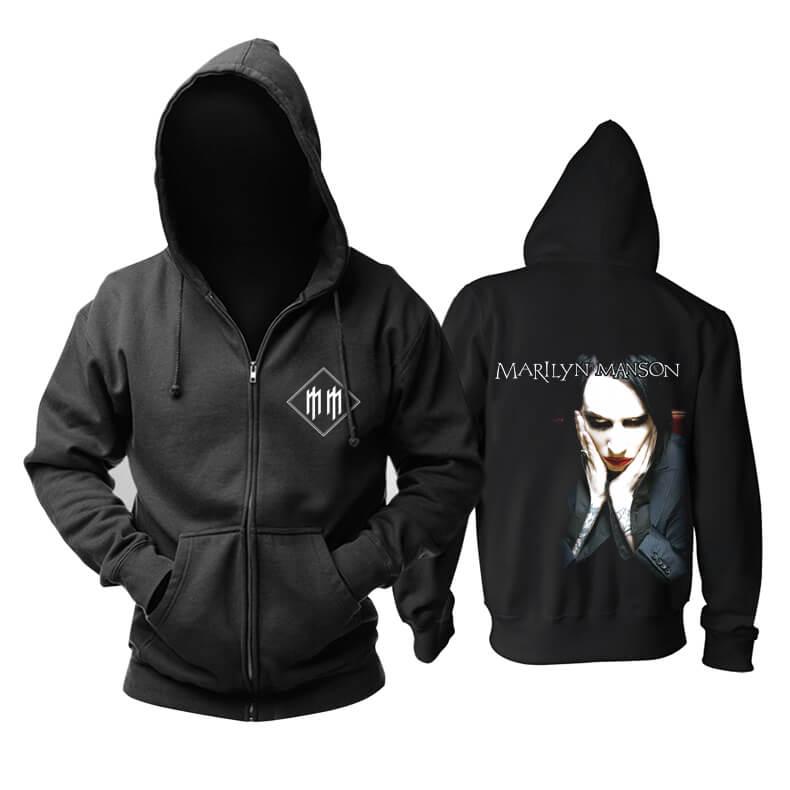 Us Marilyn Manson Hoodie Metal Music Band Sweat Shirt