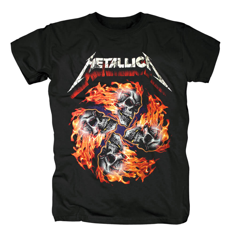 Us Skull Rock Graphic Tees Quality Metallica T-Shirt