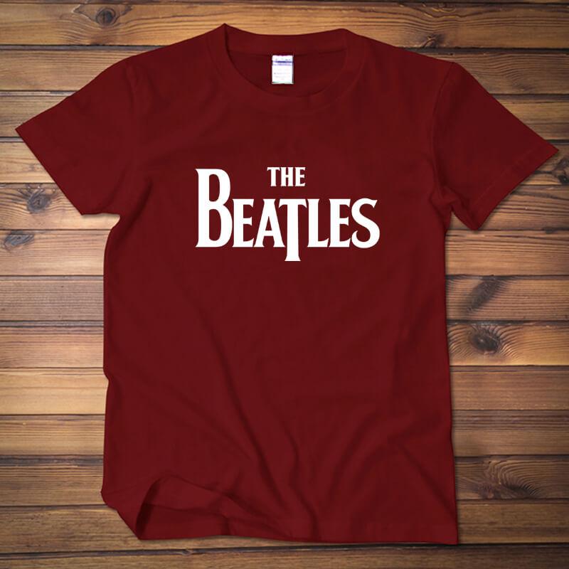 Vintage Beatles Shirt White Mens Plus Size Tee | Wishiny
