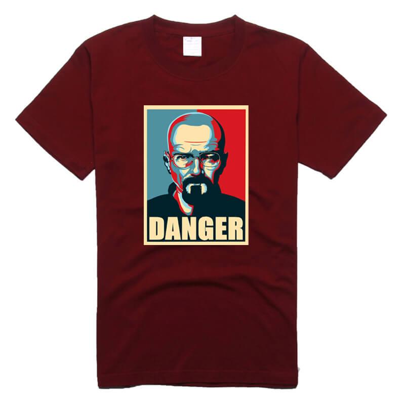 Walter White T Shirt Breaking Bad Black Cotton Tee