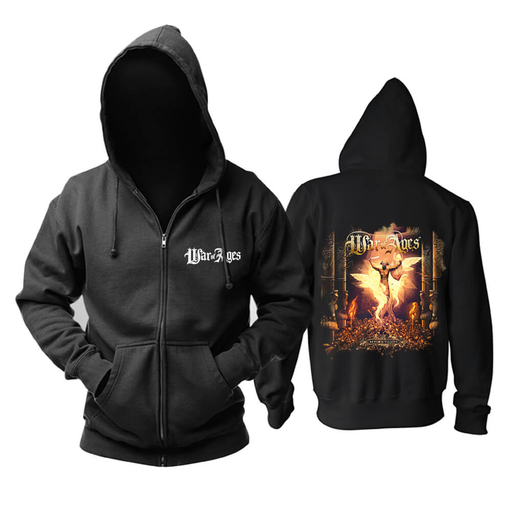 War Of Ages Return To Life Hoodie Us Metal Punk Rock Band Sweatshirts