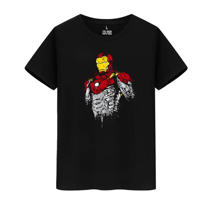 Marvel Hero Iron Man Tees The Avengers T-Shirts