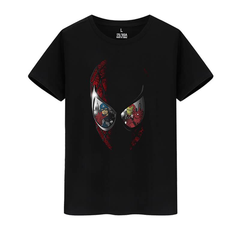 Cotton Tshirt Marvel Superhero Spiderman Shirts