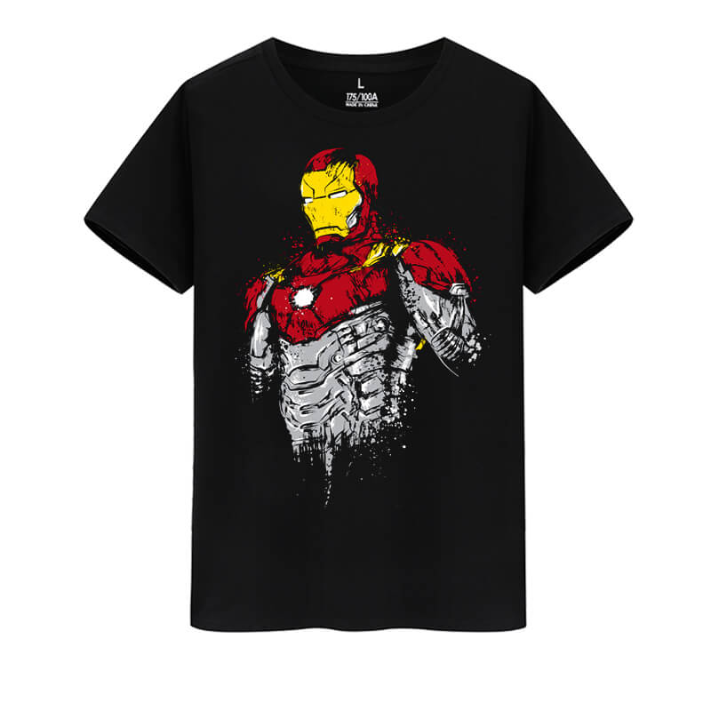 The Avengers Tees Marvel Superhero Iron Man T-Shirt
