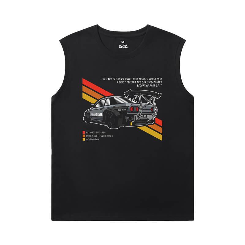 Hot Topic GTR Tshirts Racing Car Mens Sleeveless T Shirts