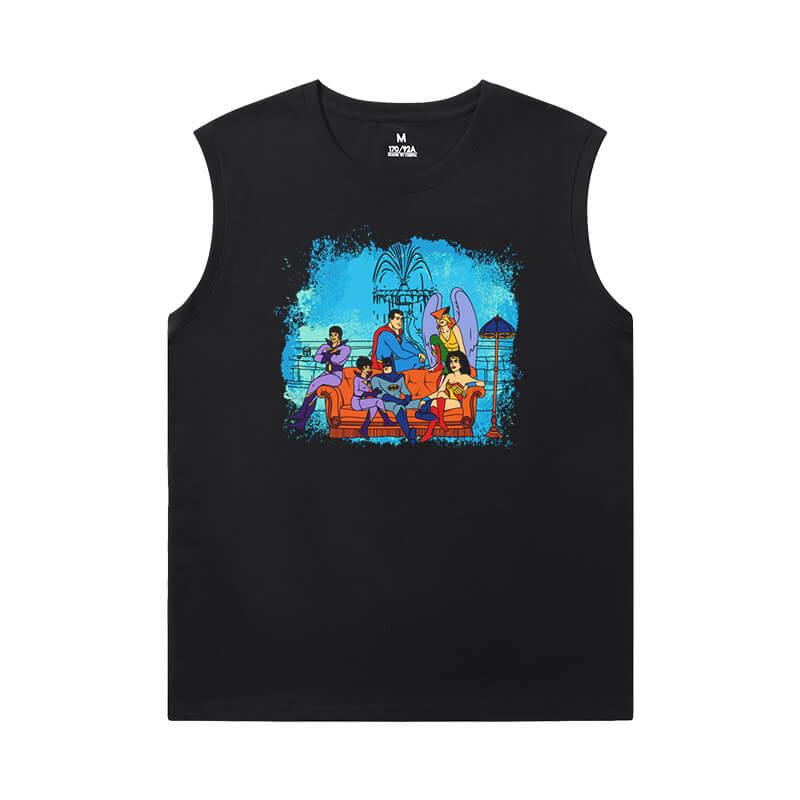 Superhero Tshirts Justice League Batman Sleeveless Wicking T Shirts